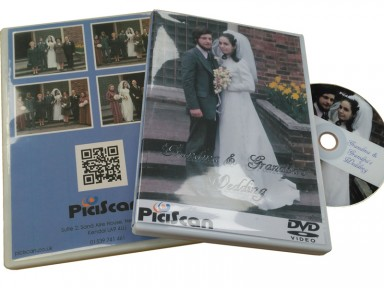 A Memory DVD celebrating a couple getting married