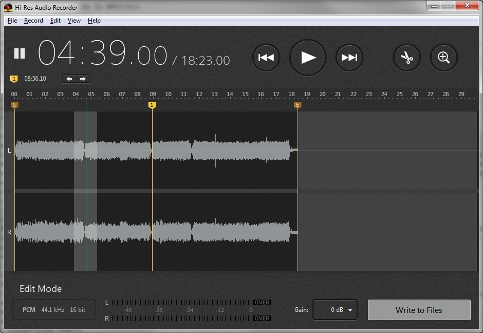 Hi-Res Audio screen shot